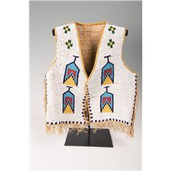 "Sioux Fully Beaded Man's Vest, 20"" x 17"""