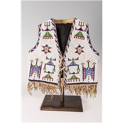 "Sioux Beaded Child's Vest, 12"" long x 13"""