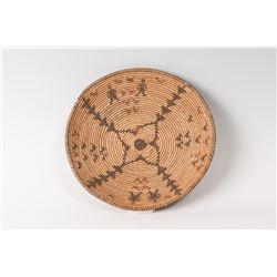 "Apache Basketry Tray, 12"" in diameter"