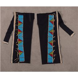 "Crow Beaded Man's Leggings, 30 ½"" x 13"""
