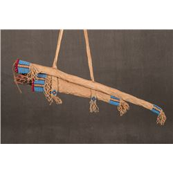 Northern Plains Beaded Bow Case, Quiver and Arrows