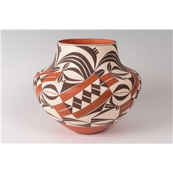 "Acoma Pueblo Pot by Barbara and Joseph Cerno, 10"" x 12"""