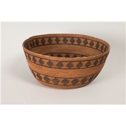 "Mono Basketry Bowl, 4 ½"" x 10"""