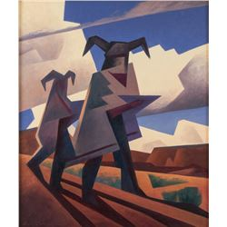 Ed Mell, oil on linen