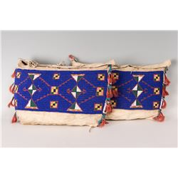 Pair of Northern Plains Beaded Possible Bags