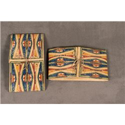 "Pair of Sioux Painted Parfleche Envelopes, 14"" x 25"" x 3"""