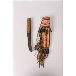 "Northern Plains Quilled Knife Case and Knife, 13"" long"