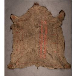 "Lakota Sioux Buffalo Robe, 6'3½"" x 6'6"""