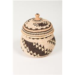 Lidded Trinket Basket by Florence Jacobs Harrie