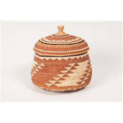 Lidded Trinket Basket by Florence Jacobs Harrie (1889-1981) (Karok)