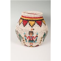 "Olla Basket by Sally Black (Navajo), 11"" x 12"""