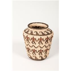 "Pima Olla Friendship Basket by Annie Antone, 3 ¾"" x 3"""