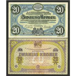 Austrian-Hungarian Empire, WWI P.O.W. Camp Currency. 1916.
