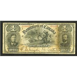Dominion of Canada, 1898 Issued Banknote.