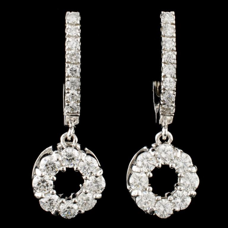 14K Gold 1 76ctw Diamond Earrings