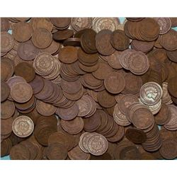 Large Lot of 1000 Indian Head Pennies- Mixed