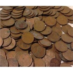 Lot of 500 Wheat Cents- Steels too!