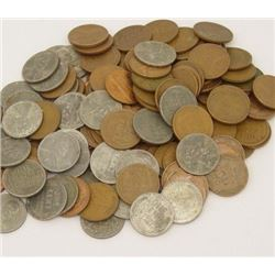 Lot of 100 Wheat Cents- Steels Too!