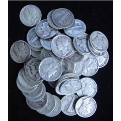 Lot of 80 Mercury Dimes- Various Dates/Grades