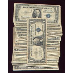 LOT OF 100 SILVER CERTIFICATES