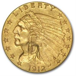 $ 2.5 Gold Indian US Minted Random Date Coin