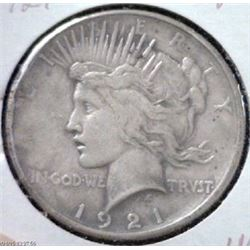 1921 peace Silver Dollar First Year-