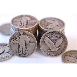 40- Standing Liberty Quarters - Random Dates