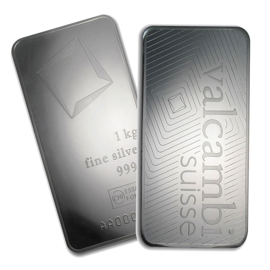 One Piece 1 Kilo 0 999 Fine Silver Bar Valcambi With Assay