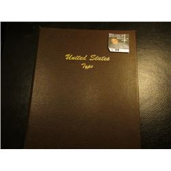 "Littleton Coin Library Deluxe Album ""United States Type"", Used. Includes 1943 P Silver WW II Nickel,"