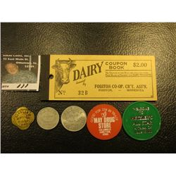 "Full ""Dairy Coupon Book…Fosston Co-op., CR'Y. Ass'n. Fosston, Minnesota""; & (5) Different Iowa Good"