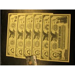 "August 10th, 1861 $1, $5, $10, $20, $50, & $100 Movie Scrip Bank Notes, ""American Bank Note Co. New"