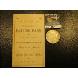 """1882 Spring Meeting Council Bluffs Driving Park and Fair Association, Council Bluffs, Iowa, May 30,"