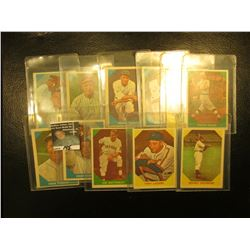 "(11) Old Fleer ""Baseball Greats"" Cards dating back more than thirty years."