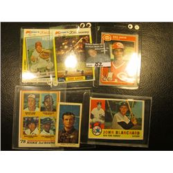 "1982 Topps ""Johnny Bench MVP"" Kmart 20th Anniversary Card with original autograph; & (5) Other All S"