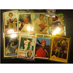 "1982 Donruss ""Billy Martin Mgr"" # 491 Ball Card, personally autographed; & (7) other All Star Baseba"
