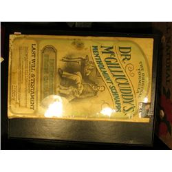 """The Original Formula Dr. McGillicuddy's Menthomint Schnapps Imported from Canada Last Will & Testam"
