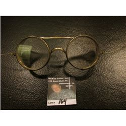 "Interesting set of 1915 era Vintage Antique Steampunk Aviator ""Saniglass Kings Safety Goggles""."