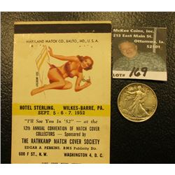 "Risque Match Book Advertising cover ""Hotel Sterling, Wilkes-Barre, Pa. Sept. 5-6-7, 1952…12th Annual"