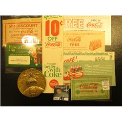 (10) Different Pieces of Coca-Cola Memorabilia including a 1886-1986 Coca-Cola Distributor Large Bro