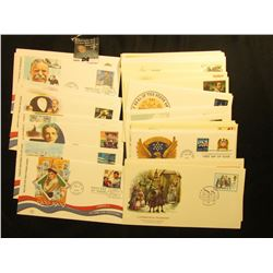 (50) 1978-2006 First Day Stamp Covers Singles and Sets.