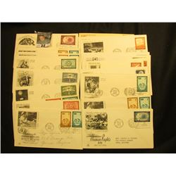 (27) 1956-1957 United Nations first Day Covers.