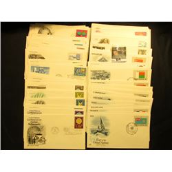 (104) 1976-1985 United Nations First Day Covers.