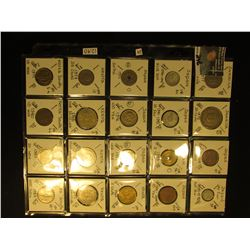 (20) World Coins in a plastic page. All catalogued with KM #, size, mintage if given, & value. Inclu