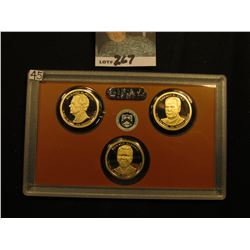 2016 S Nixon, Ford, & Reagan Presidential Proof One Dollar Coins from original Proof Set (3 pcs.).