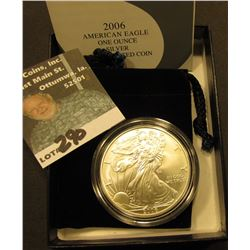 2006 W West Point Silver American Eagle One ounce Dollar. Uncirculated in pouch in original box of i