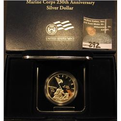 2005 P Marine Corps 230th Anniversary Silver Dollar. Gem Proof in original box of issue.