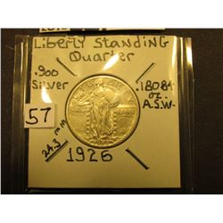 1926 P Standing Liberty Quarter, VF+.