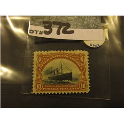 Scott #399 10c Pan-American Expo. Issue, Yellow Brown & Black, Mint Never Hinged.