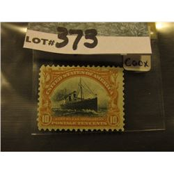 Scott #399 10c Pan-American Expo. Issue, Yellowbrown & Black, Mint Very Lightly Hinged.