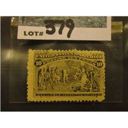 Scott #237 10c Columbian Expo. Black Brown, Mint Hinged.
